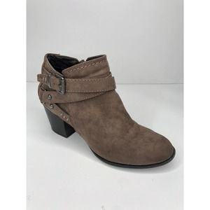 Indigo Rd.• Taupe Faux Suede Ankle Booties SZ 7
